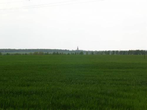 Вид на поле танкового сражения с наблюдательного пункта